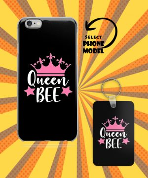 Queen Bee Mobile Case And Key Chain By Roshnai - Pickshop.Pk