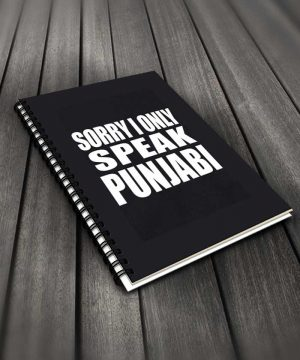 Sorry I Only Speak Punjabi Notebook By Roshnai - Pickshop.Pk