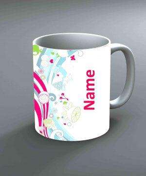 Pattern 10 Name Mug By Roshnai - Pickshop.Pk