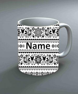 Pattern 19 Name Mug By Roshnai - Pickshop.Pk