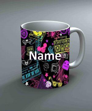 Pattern 21 Name Mug By Roshnai - Pickshop.Pk