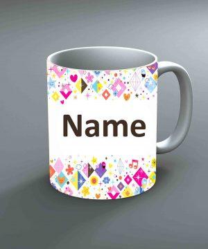 Pattern 22 Name Mug By Roshnai - Pickshop.Pk
