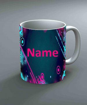 Pattern 29 Name Mug By Roshnai - Pickshop.Pk
