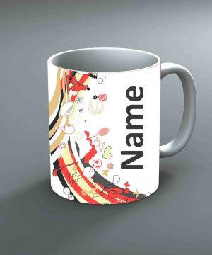 Pattern 32 Name Mug By Roshnai - Pickshop.Pk