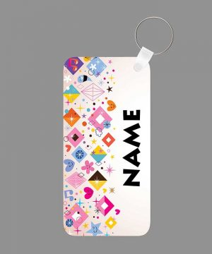 Pattern 33 Name Keychain By Roshnai - Pickshop.Pk