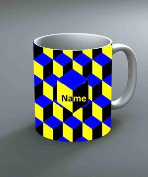 Pattern 6 Name Mug By Roshnai - Pickshop.Pk