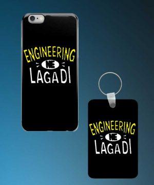 Engineering Ne Lagadi Mobile Case And Keychain By Roshnai - Pickshop.Pk