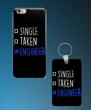 Single Taken Engineer Mobile Case And Keychain By Roshnai - Pickshop.Pk
