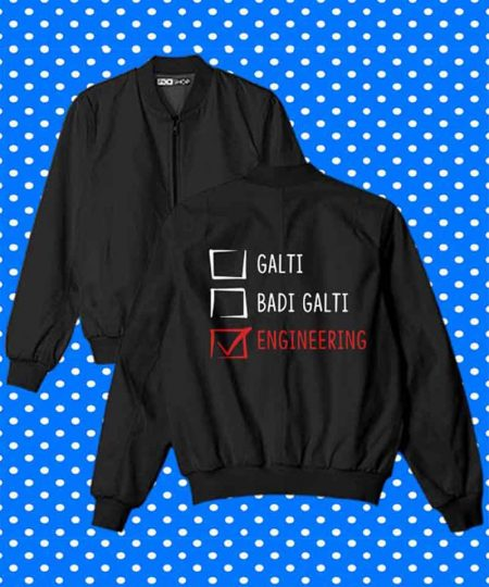 Galti Badi Galti Engineering Bomber Jacket By Teez Mar Khan - Pickshop.Pk