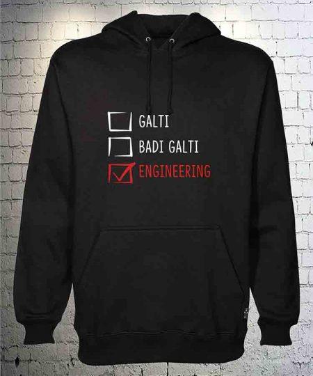 Galti Badi Galti Engineering Hoodie By Teez Mar Khan - Pickshop.Pk