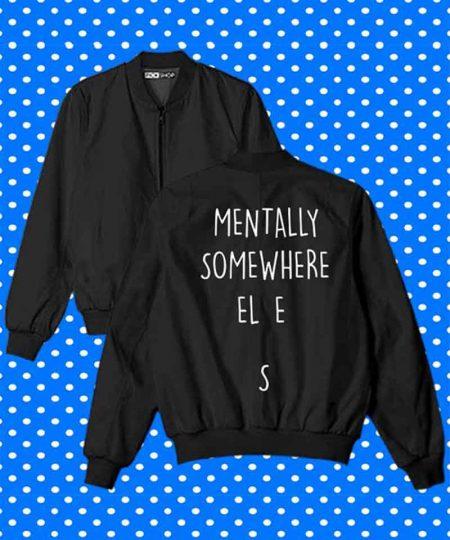 Mentally Somewhere Else Bomber Jacket By Teez Mar Khan - Pickshop.Pk