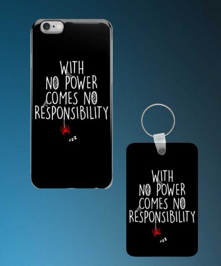 With No Power Comes No Responsibility Mobile Case And Keychain By Roshnai - Pickshop.Pk