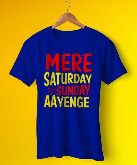 Saturday Sunday Tee By Teez Mar Khan - Pickshop.Pk