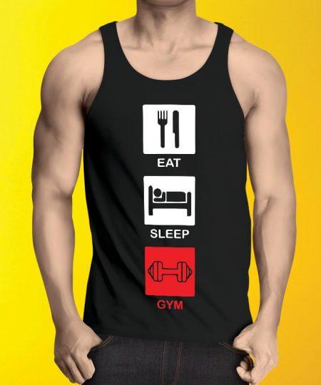 Eat Sleep Gym Tank Top By Teez Mar Khan - Pickshop.Pk