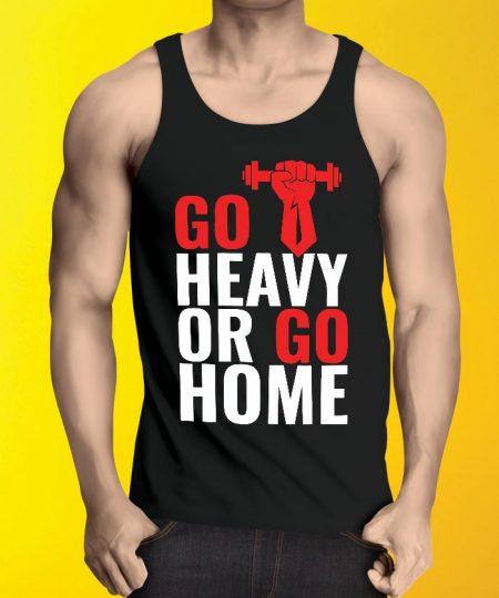 Go Heavy Or Go Tank Top By Teez Mar Khan - Pickshop.Pk