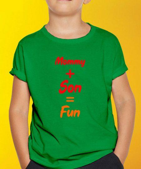 Mommy Son Fun T-Shirt By Roshnai - Pickshop.Pk
