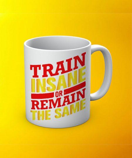 Train Insane Mug By Roshnai - Pickshop.Pk