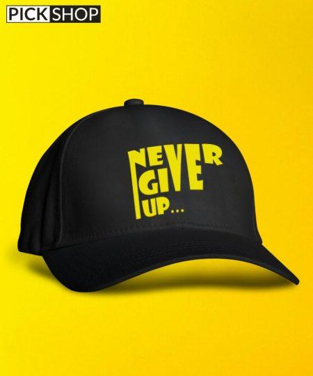 Never Give Up Yellow Cap By Roshnai - Pickshop.Pk