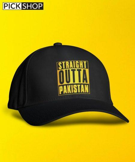 Straight Outta Gold Cap By Roshnai - Pickshop.Pk