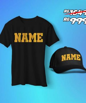 Custom Name T Shirt and Cap Pack
