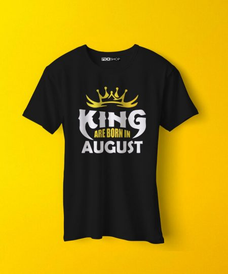 "Kings Are Born In ""Your Birth Month"" T-Shirt By Teez Mar Khan - Pickshop.Pk"