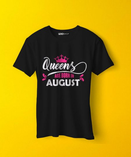 "Queens Are Born In ""Your Birth Month"" T-Shirt By Teez Mar Khan - Pickshop.Pk"