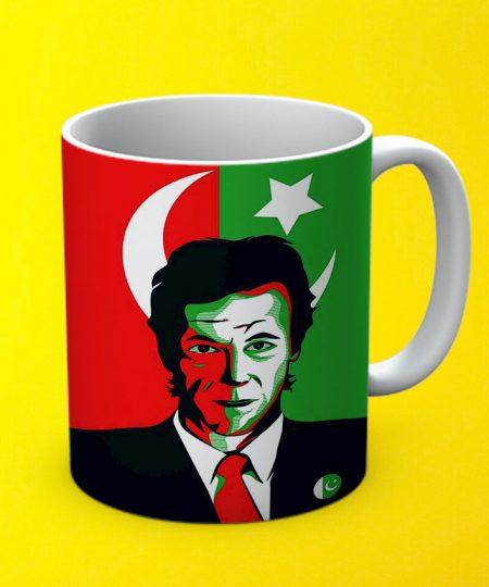 Imran Khan Flag Mug By Teez Mar Khan - Pickshop.pk