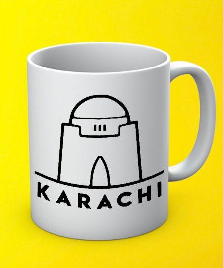 Karachi City Mug By Teez Mar Khan - Pickshop.pk