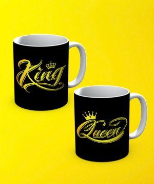 King And Queen Mug By Teez Mar Khan - Pickshop.pk