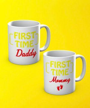 Mommy Daddy Mug By Teez Mar Khan - Pickshop.pk