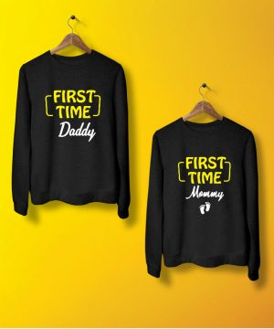 Mommy Daddy Sweatshirt By Teez Mar Khan - Pickshop.pk
