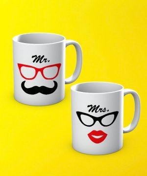 Mr And Mrs Mug By Teez Mar Khan - Pickshop.pk