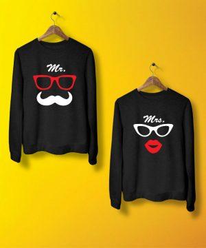 Mr And Mrs Sweatshirt By Teez Mar Khan - Pickshop.pk