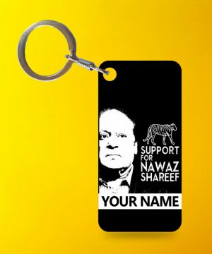 Support Nawaz Keychain By Teez Mar Khan - Pickshop.pk
