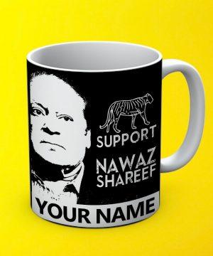 Support Nawaz Mug By Teez Mar Khan - Pickshop.pk