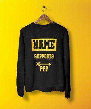 Support Ppp Sweatshirt By Teez Mar Khan - Pickshop.pk