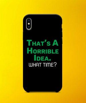 Horrible Idea Mobile Case By Teez Mar Khan - Pickshop.pk