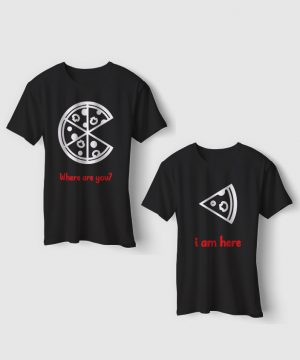 Pizza And Slice Tees