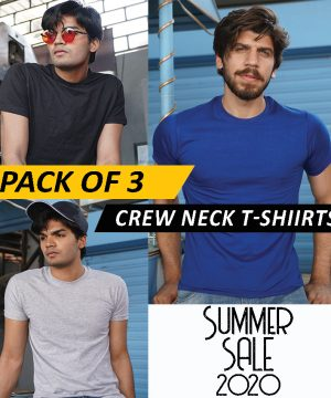 Pack of 3 Crew Neck Tees