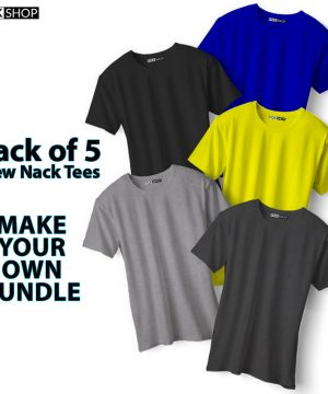 Pack of 5 Crew Neck Tees