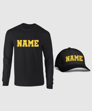 Custom Name Full Sleeve and Cap Pack