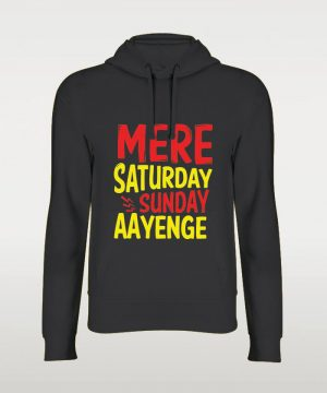Saturday Sunday Hoodie By Teez Mar Khan - Pickshop.pk